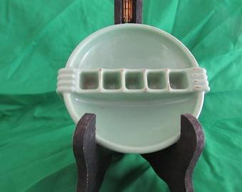 Vintage Porcelain Snuf-A-Rette Ashtray