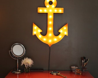 FREE SHIPPING SALE!  Vintage Marquee Lights - Anchor