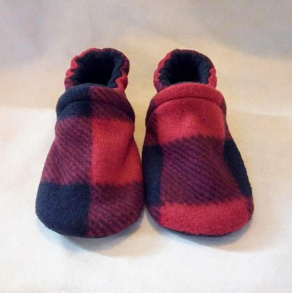 Buffalo Plaid: Soft Sole Baby Shoes 18-24M