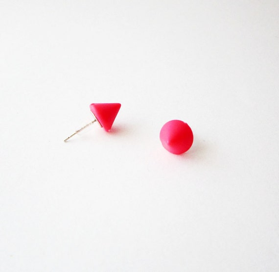 neon leather pink earrings lavish leathers teardrop products