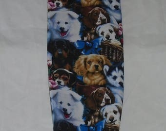 Dog Design Homemade Fabric Plastic Grocery Bag Holder