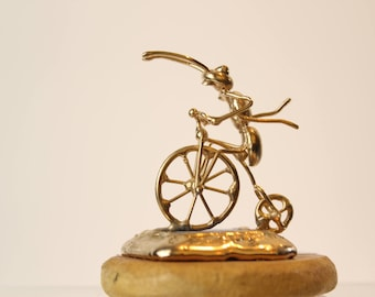 Ant riding unicycle - Miniature,Free shipping Ant athlete,collectible animal,unique gift for friend mom,dad,hobby,unusual Bicycle