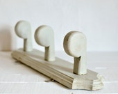 French Painted Coat Rack,...