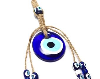 Evil eye Wall Hanging - Protection & Good Luck - Home decoration - Greek wall hanging - Greece - Greek gift - Door hanging