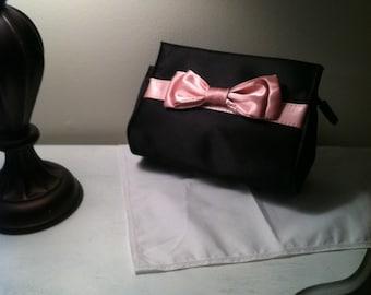 vintage black and pink purse