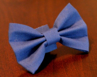 Ready To Ship Bow Tie - Bow Tie Small or Medium - Simply Blue - no collar