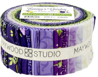 "New!   EMMA'S GARDEN       Jelly Roll  - 2.5"" Strips   By Debbie Beaves  For: Maywood Studios    40  2-1/2"" Strips   STMASEMG"