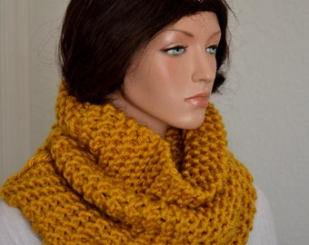 Snood Cowl/, Knitted Cowl Scarf, Snood Neckwarmer, Men or Womens Snood