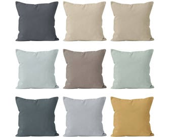 Modern Farmhouse Pillow Covers Set Mix and Match, Rustic Modern Farmhouse Chic Style Decor Throw Cushion Accent Toss Solid Pillow Covers _S
