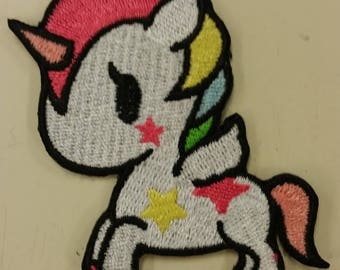 Rainbow Unicorn Embroidered Patch,  Cute Unicorn Iron On Patch