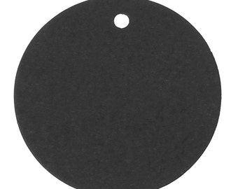 10pcs Black Round Paper Label Price Tags - 50mm - Packaging, Handmade Packaging, Craft Show, Booth Tag, Unique, Ships from USA - O47