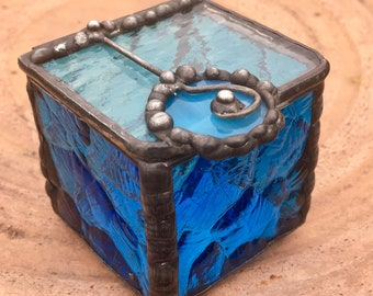 Blue stained glass box