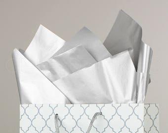 "100 Pk - Metallic Silver Tissue Paper - 20"" x 30"" - Jumbo Premium Tissue Paper Sheets - Acid Free Gift Wrap Paper - Bulk Ream - 20 x 30 Inch"