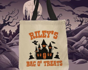 Trick or Treat Bag, Halloween, Halloween Bag, Trick or Treat, Trick or Treat Bags, Halloween Treat Bags, Halloween Sack, Haunted House(1017)