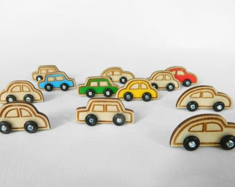 Wooden Car RAR-Serie 1 sedan square. Available in different colours.