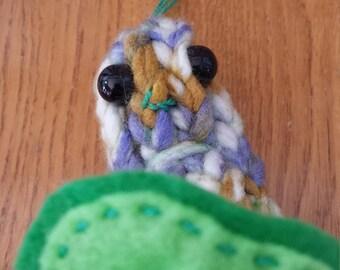 Lil B a bean sprout - handmade, OOAK, plush
