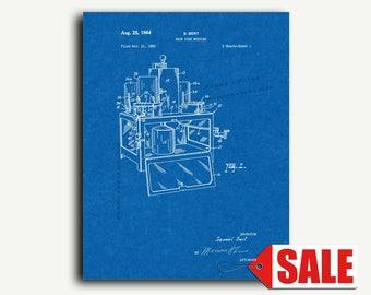 Patent Print - Snow Cone Machine Patent Wall Art Poster