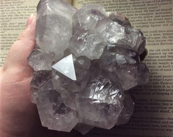 Stunning enormous pale amethyst cluster