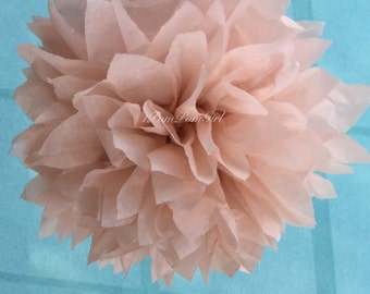 DUSTY PINK / 1 tissue paper pom pom// baby shower / wedding / birthday / bridal shower / nursery decor / anniversary/ photo prop/ DIY
