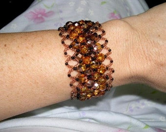 Black and Copper Netted Bracelet