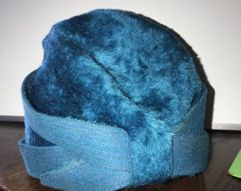 Vintage Bellini Originals Selene Opera Hat blue teal GORGEOUS made in Italy