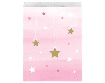Treat Bags - Twinkle Twinkle Little Star First Birthday - Twinkle Twinkle Little Star Baby Shower - First Birthday - Favor Bags - Girl Party