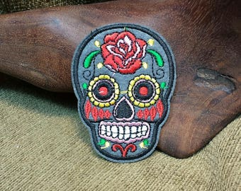 Colorful Day of the Dead Skull Patch