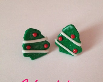 Silver-plate chips Christmas trees