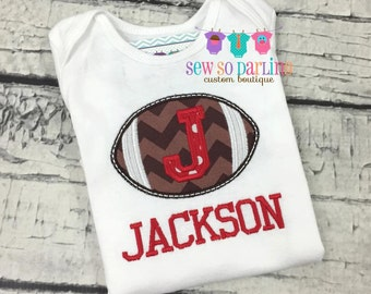 Baby Boy football outfit - Baby Football outfit - personalized outfit baby boy- baby boy clothes - Red football team shirt - baby boy gift