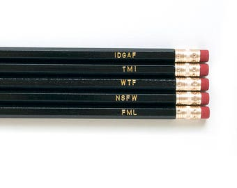Expletive Pencils
