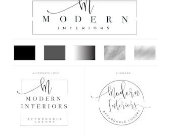 Chandelier Logo Interior Design Logo Modern Logo Minimal
