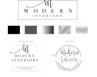 Branding Kit, Branding Package, Premade Logo, Neutral Logos, Minimal  Branding, Interior Design Branding, Interior Design Logo, Modern Logo