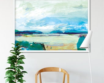 Printable Abstract Art, Abstract Landscape Painting, 24x36 print, instant download art, Large Abstract Art, Landscape art, living room art