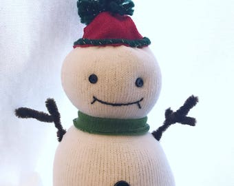 Chilly the Sock Snow Person -Ready to ship!