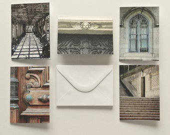 Urban Note Card, Photo Note Card Set, Blank Cards with Envelopes Hostess Gift,New York City Thank You Cards,NYC Notecard Set,Photo Notecards