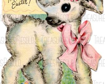 Happy Easter Lamb Card #392 Digital Download