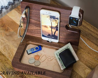 Iphone Dock, Iphone 8 dock, Gifts for men, Gift Ideas for Men, Mens personalized, Anniversary Gifts for Him, Iphone 7 Dock, Mens Gifts.
