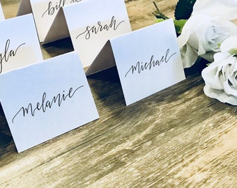 Wedding Place Cards | Name Cards | Event Place Cards | Seating Black Calligraphy | Table Card | Wedding Decorations | Wedding Decor