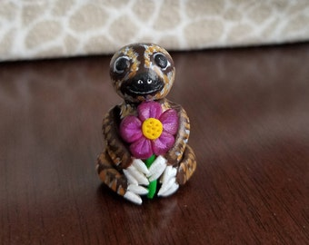 Happy Sloth Figurine