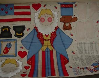 Johnny Rocket Patriotic American Unlcle Sam Wallhanging Fabric Panel