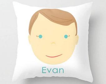Custom Portrait Pillow : BOY - #Personalized #Pillow