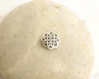Sterling Silver Celtic Mandala Knot  -- 1  Piece