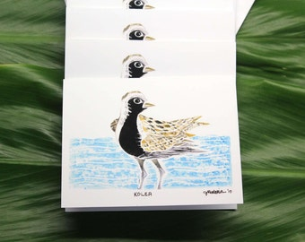 "Kōlea (Pacific Golden Plover), 4-Pack Greeting Cards, 4"" x 6"""