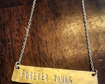 Forever Young Bar Necklace