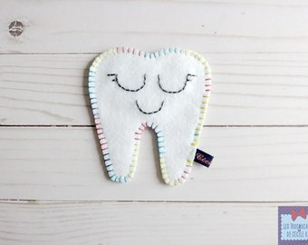 Tooth pouch; Toothfairy pouch. tooth box; felt pouch; case milk teeth. Pocket star; tooth pouch