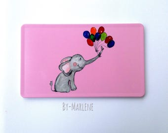 Breakfast Board Elephant Pink
