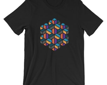 Impossible Hexagon Geometry Unisex T-Shirt