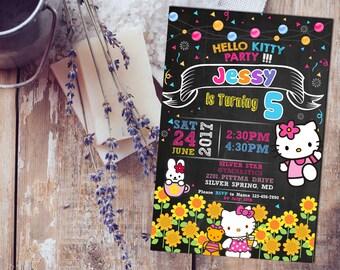 Hello Kitty Invitation,Hello Kitty Birthday Invitation,Hello Kitty Invitation Party,Hello Kitty Birthday,Hello Kitty Party Invited-SL194