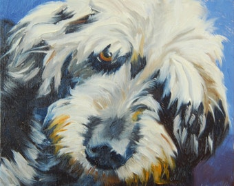 The Dude, 6x6 Original Oil Painting on Panel by Alice Leggett