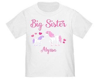 Big Sister Unicorn Personalized T Shirt Big Sister tshirt
